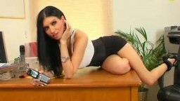 Sexy brunette telephone babe